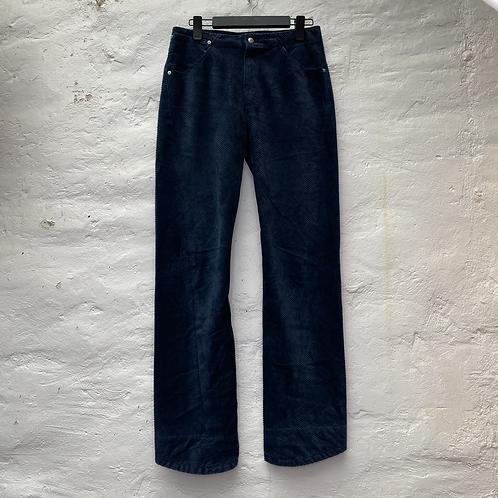 Pantalon en velours côtelé bleu pétrole, années 2000, TM, Levi's