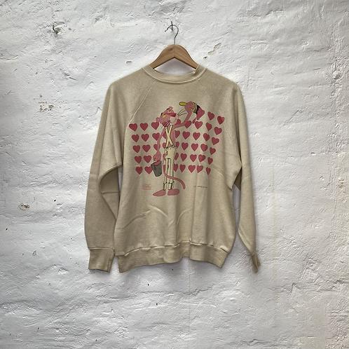 Sweatshirt Panthère rose crème, années 2000, TM