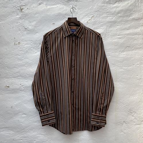 Chemise marron à rayures, TL, Kenzo