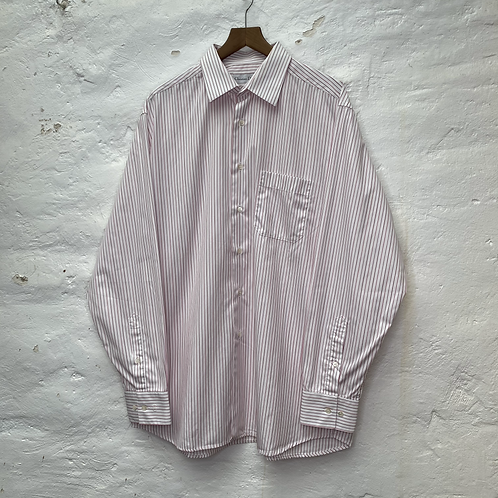Chemise blanche avec rayures roses, TL, Dior