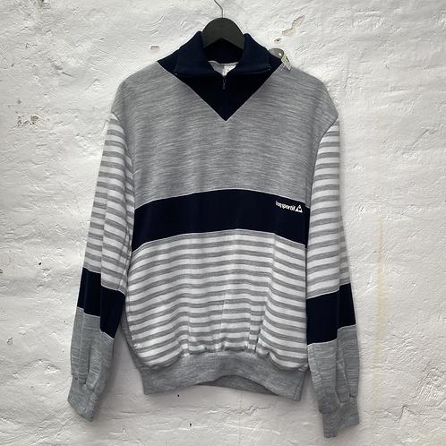 Sweatshirt vintage gris et bleu, TM-L, Le Coq Sportif