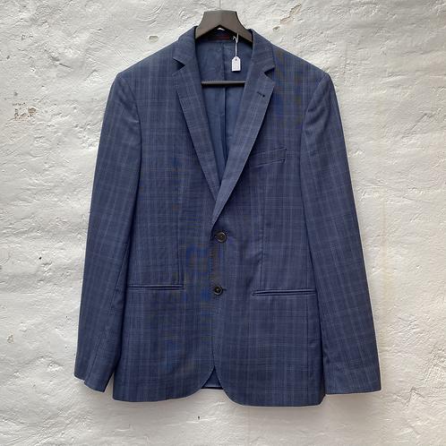 Blazer bleu marine à carreaux, TM, Féraud
