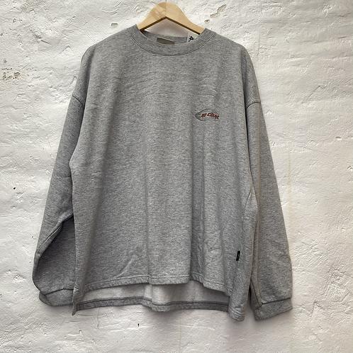 Sweat-shirt gris avec imprimé surf au dos, années 2000, TL, Ripcurl