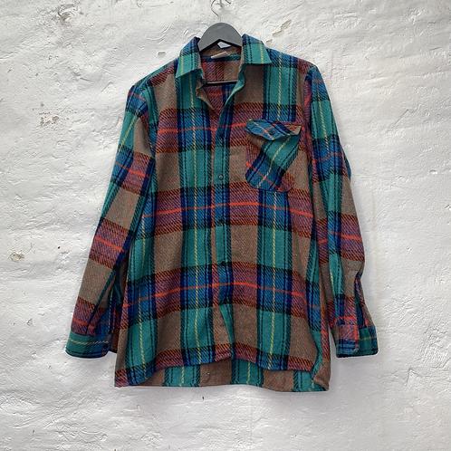 Chemise laine vintage à carreaux, années 90, TM, Challenger