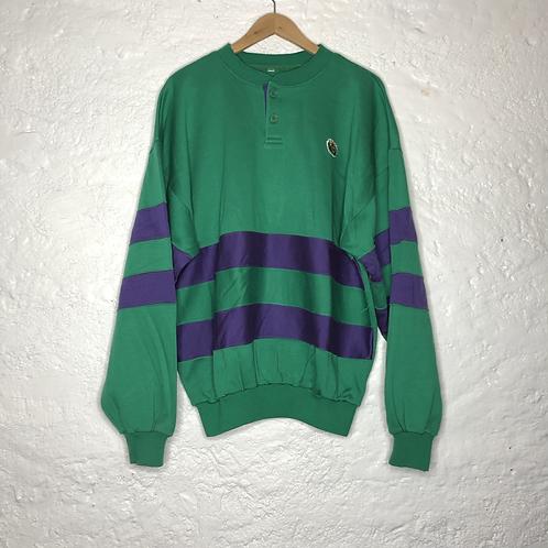 Sweat-shirt vert et violet