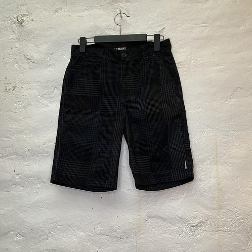 Short noir à carreaux bleu et blanc, années 2000, TS, Element