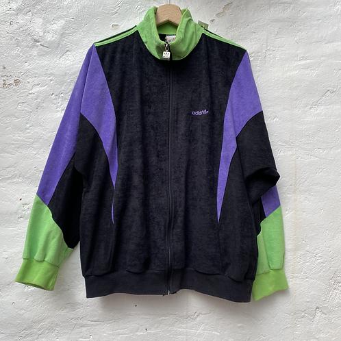 Veste vintage peau de pêche, années 90, TM, Adidas