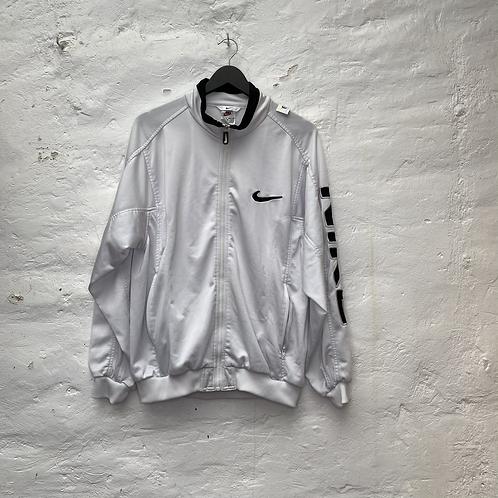 Veste de sport vintage blanche, années 90, TM, Nike