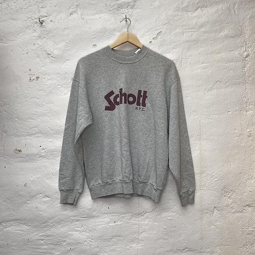 Sweatshirt gris logo, TL, Schott