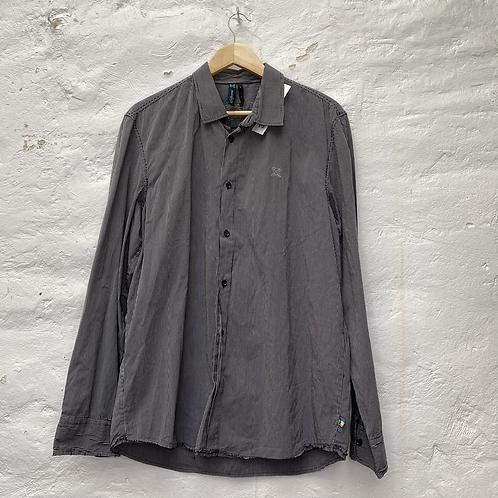 Chemise rayée noir et blanc, années 90, TL, Oxbow.