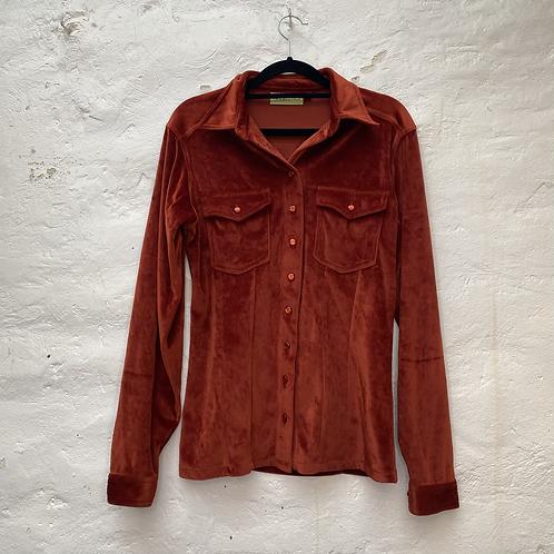 Top avec poches à velours orange, années 2000, TS, Scenic