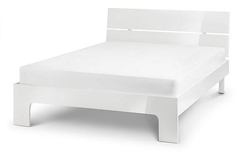 Manhattan Bed Frame- White High Gloss