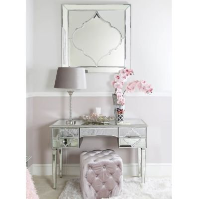 Marrakech Silver Mirror 5 Drawer Dressing Table