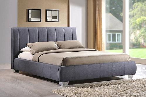 Braunston Fabric Bed Frame-Grey