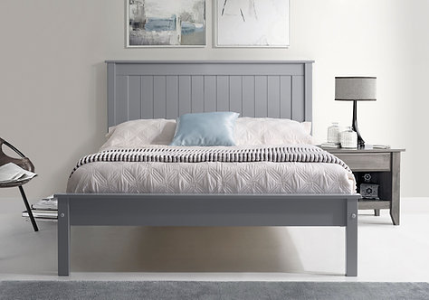 Tarus Grey Wooden Bed Frame- Low Foot End