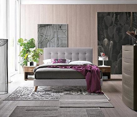 Novara Fabric Bed Frame-Light Grey
