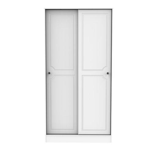 Balmoral Sliding 2 Door Wardrobe- White Gloss