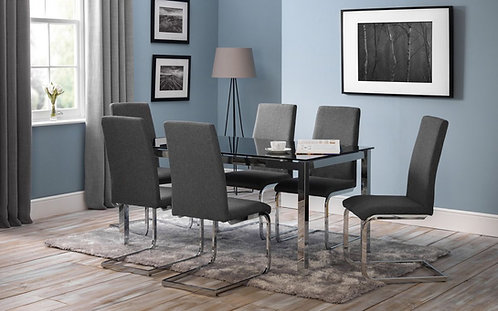 Tempo Dining Table & Roma Chair Set