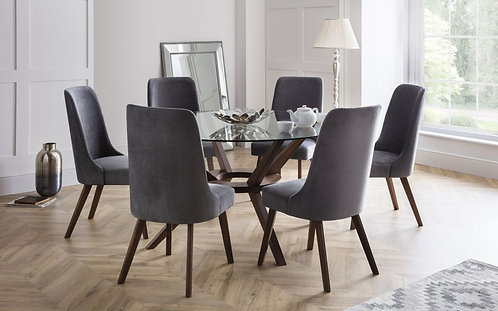 Chelsea Large & 6 Huxley Chairs-Dining Set