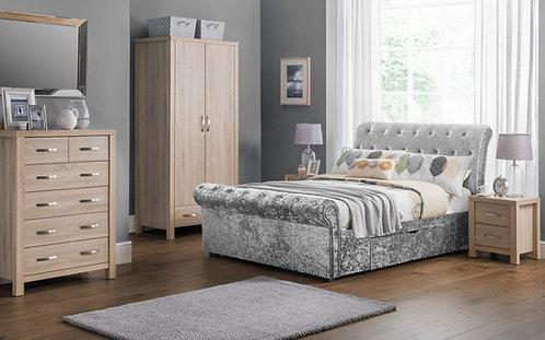 Verona 2 Drawer Storage Bed - Silver