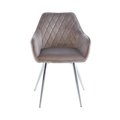 Set of Two Quinn Grey Fabric Dining Chair