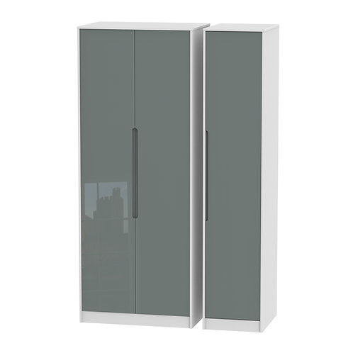 Monaco  Gloss 3 Door Wardrobe