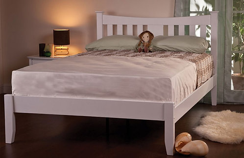 Arquette White Wooden Bed Frame