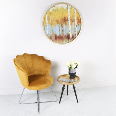 Ariel Mustard Yellow Shell Back Dining Chair