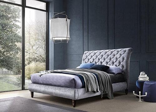 Venice Bed Frame-Grey Crushed Velvet
