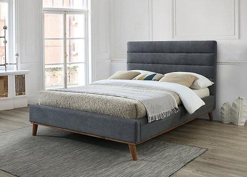 Mayfair Fabric Bed Frame-Dark Grey