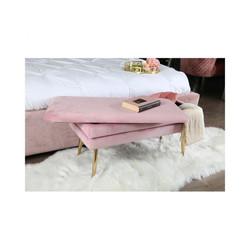 Zara Plush Pink Ottoman Box
