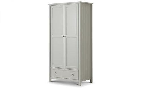 Maine 2 Door Combination Wardrobe - Dove Grey