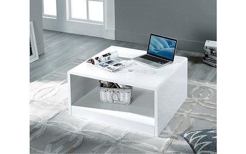 Manhattan Square Coffee Table- White High Gloss