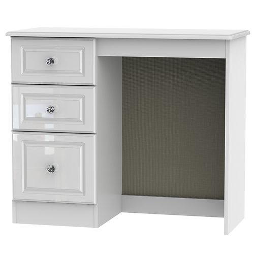 Balmoral Single Dressing Table- White Gloss