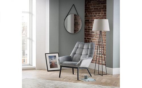 Lucerne Chair – Grey Velvet