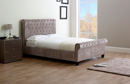 Orbit Fabric Bed Frame-Mink