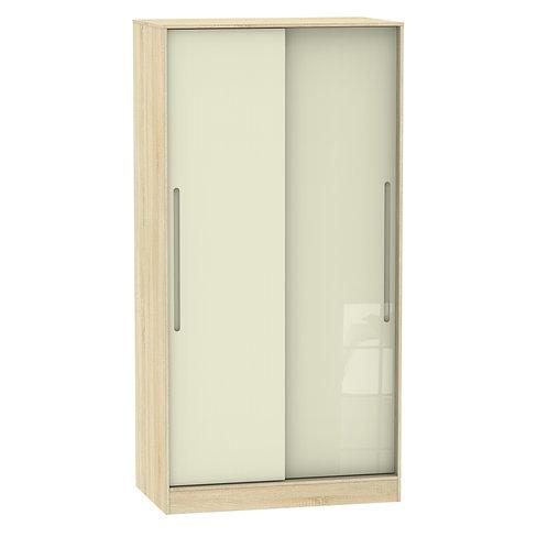 Monaco 2 Door Sliding Wardrobe- Cream Gloss