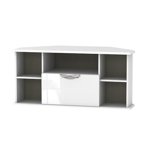 Camden Corner TV Unit-White Gloss