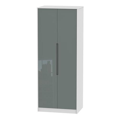 Monaco 2 Door, Double Hanging Wardrobe