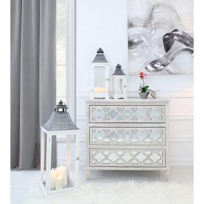 White and Grey Large Lanterns- Set of 3