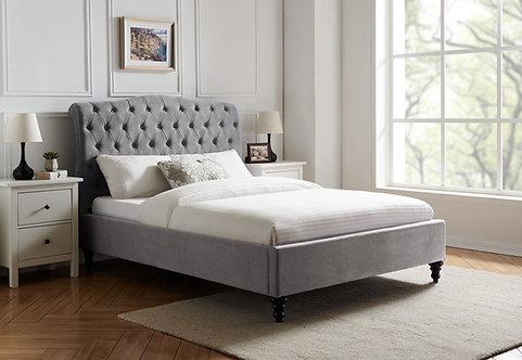 Rosa  Fabric Bed Frame-Light Grey