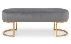 Harrogate bench Grey Plush