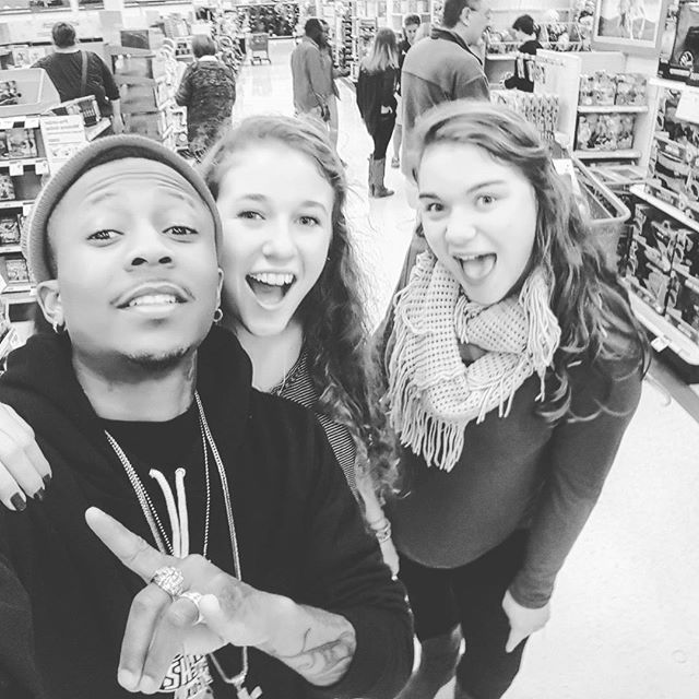 Went in Target to do some XMas shopping and Ran into these Awesome People!!!! IF YOU KNOW THESE 2 TA