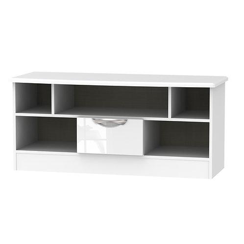 Camden Open TV Unit-White Gloss