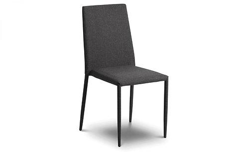 Jazz Fabric Dining Chair -Slate Grey