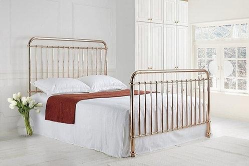 The Rose Metal Bed Frame-Rose Gold