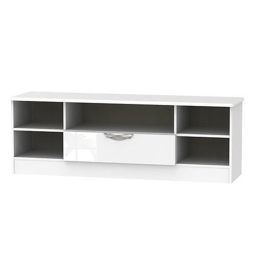 Camden Open Wide TV  Unit-White Gloss