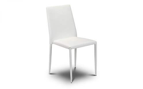 Jazz Faux Leather Dining Chair-White