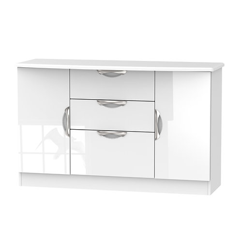 Camden 2 Door/ 3 Drawer Unit-White Gloss