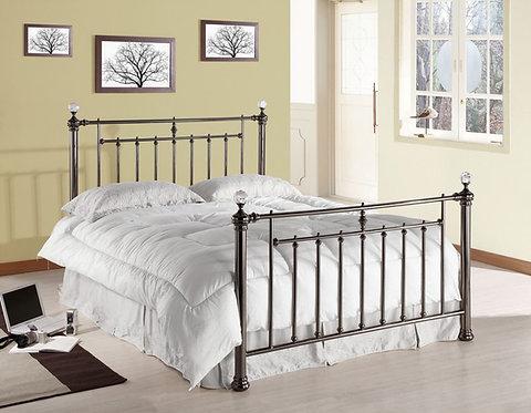 Alexander Metal Bed Frame-Black Nickel